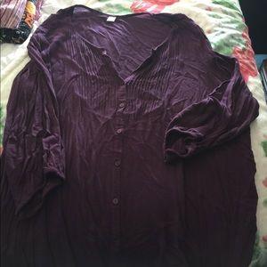 Old Navy thin purple blouse